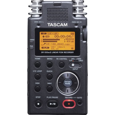ریکوردر-صدا-Tascam-DR-100mkII---Portable-2-Channel-Linear-PCM-Recorder