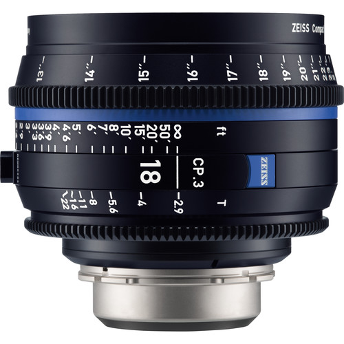 Zeiss-CP-3-18mm-T3-9-Compact-Prime-Lens-(Sony-E--Mount,-Feet)