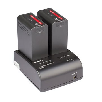 SWIT-S-3602U-2-ch-SONY-BP-U-Charger-and-Adaptor