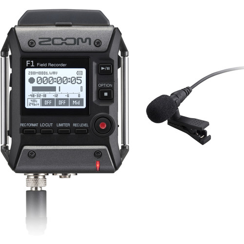Zoom-F1-Field-Recorder-with-Lavalier-Microphone