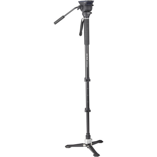 تک-پایه-لیبک-Libec-Hands-Free-Monopod-Kit-with-TH-X-Pan-and-Tilt-Video-Head-and-Bowl-Clamp